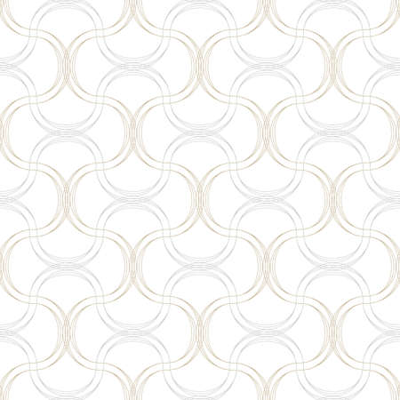 gray thread: Vector seamless pattern. Abstract background made of wavy lines Illustration