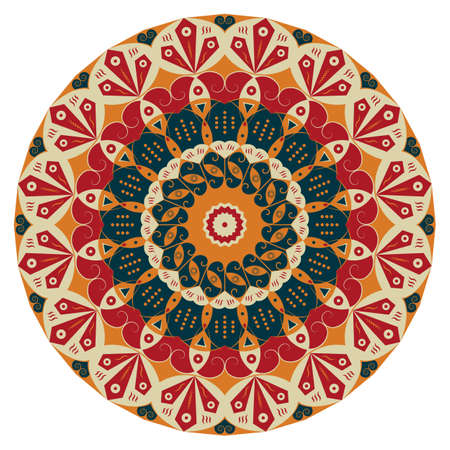 Colorful round ethnic pattern. Element for design