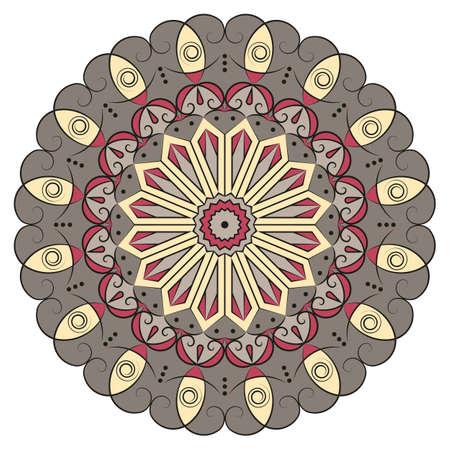 Motif ethnique rond coloré. Element for design Banque d'images - 76742328