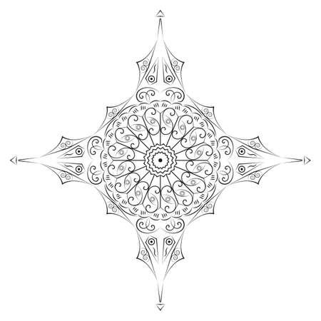 Forme ethnique noir-blanc. Élément de conception Banque d'images - 76742479