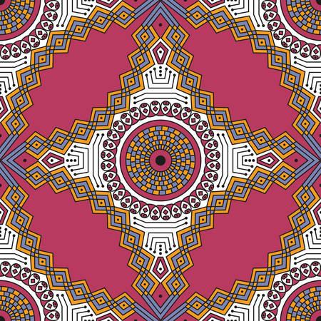 Fond à motifs ethnique coloré. Ornement de vecteur Arabesque Banque d'images - 76829953