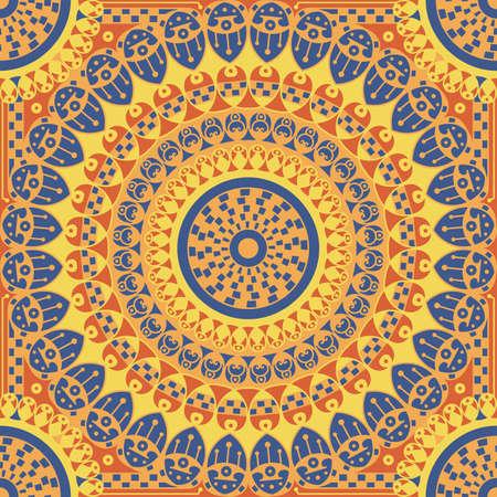 Colorful à motif ethnique. ornement vecteur Arabesque Banque d'images - 76999810