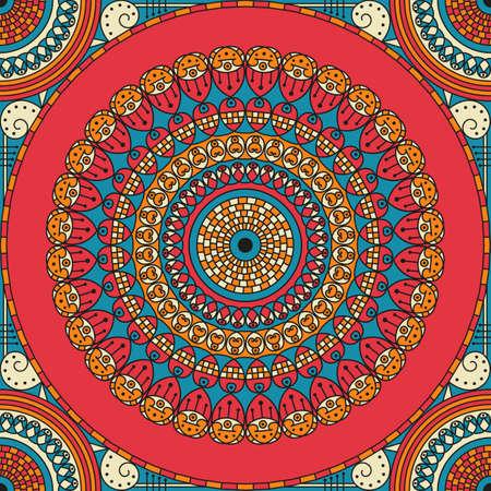Fond à motifs ethnique coloré. Ornement de vecteur Arabesque Banque d'images - 76829998