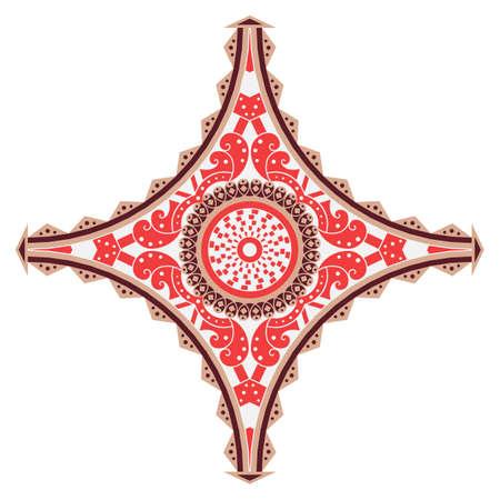 Motif ethnique coloré. élément de vecteur pour la conception Banque d'images - 76854021