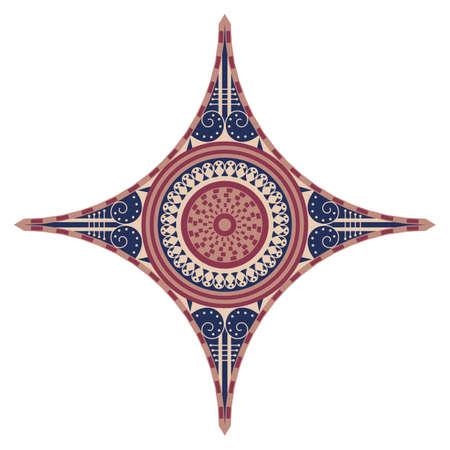 Forme ethnique colorée. Élément vectoriel pour le design Banque d'images - 76854023