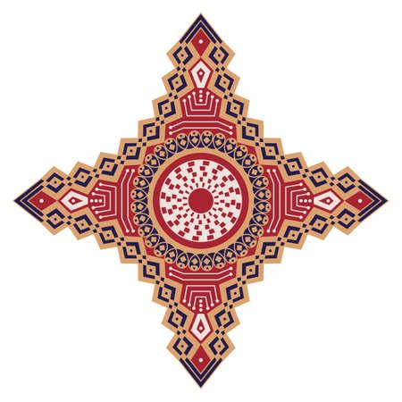 Forme ethnique colorée. Élément vectoriel pour le design Banque d'images - 76854029