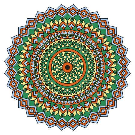 Motif ethnique rond coloré. Elément pour le design Banque d'images - 76854158