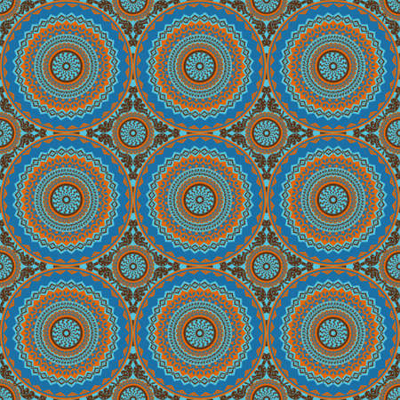 Vector seamless pattern. ornement ethnique coloré. le style Arabesque Banque d'images - 77040170