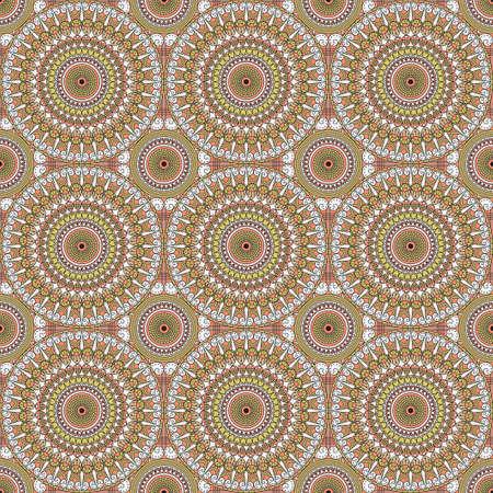 Vector seamless pattern. ornement ethnique coloré. le style Arabesque Banque d'images - 76854209