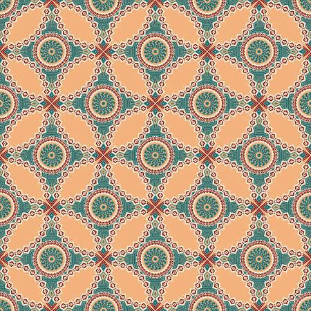 Vector seamless pattern. ornement ethnique coloré. le style Arabesque Banque d'images - 77040363