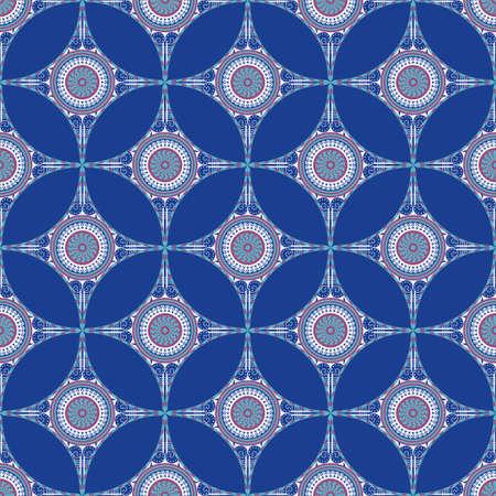 Modèle sans couture de vecteur. Ornement ethnique coloré. Style arabesque Banque d'images - 76854245
