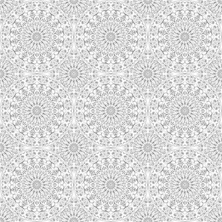 gothic style: Vector pattern seamless. Black-white ethnic ornament. Arabesque style Illustration