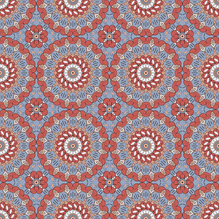 Vector seamless pattern. Colorful ethnic ornament. Arabesque style Illustration