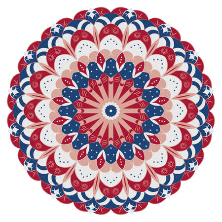 ornamentations: Colorful round ethnic pattern. Element for design