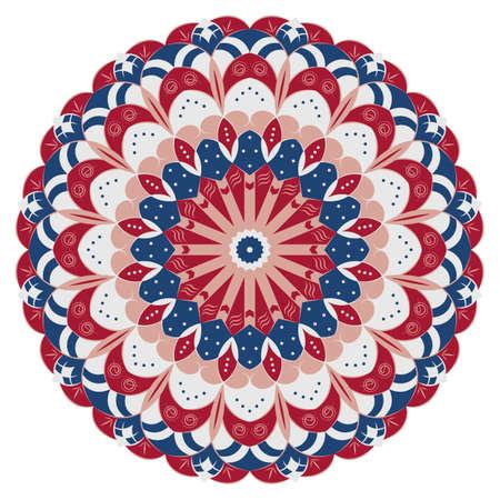 Motif ethnique rond coloré. Element for design Banque d'images - 81963316