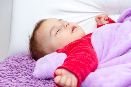 six month old: Cute baby girl sleeping