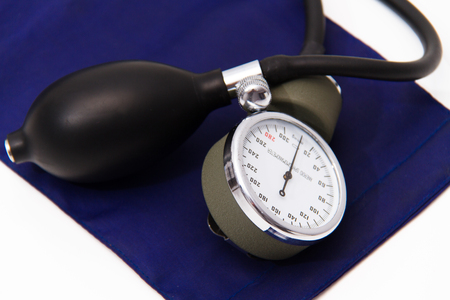 Blood pressure meter medical equipment Stock Photo