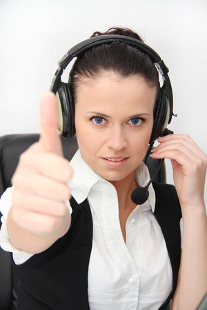Photo of the Business Woman customer service worker photo