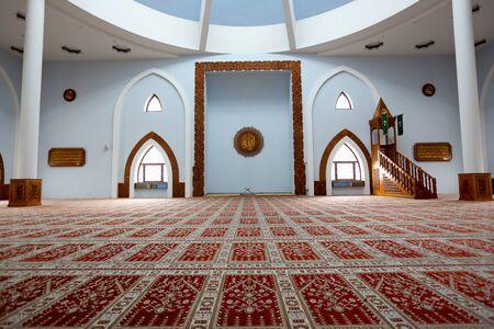 herzegovina: Photo of the Istiqlal mosque - interior, Sarajevo, Bosnia and Herzegovina Editorial