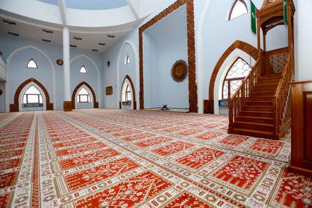 sarajevo: Photo of the Istiqlal mosque - interior, Sarajevo, Bosnia and Herzegovina Editorial