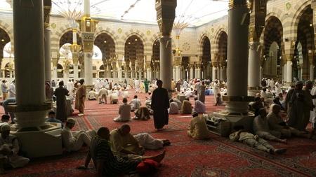 madina: Photo of the Al Madinah, Saudi arabia, September 2016 masjid (mosque) nabawi and pilgrims from all the world at Prophet Mosque or Masjid Nabawi