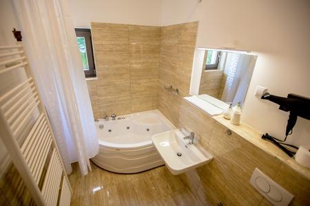 bathroom interior: Interiorof the  beautiful Luxury villa, bathroom Stock Photo