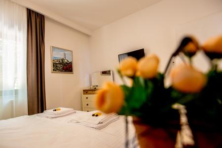 sink: Beautiful Luxurious villa interior, bedroom Stock Photo