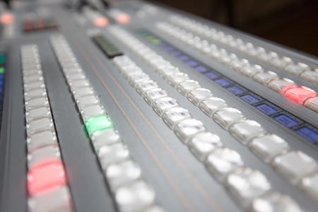 Broadcast studio video and audio switcher mixer Stock Photo