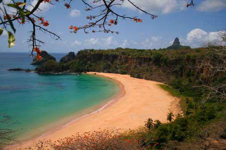 praia: praia do sancho fernando de noronha - brazil Stock Photo