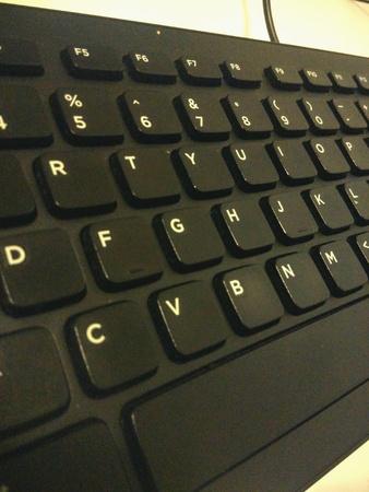 black: Black keyboard Stock Photo
