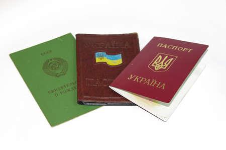 Passport set on a white background base