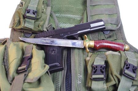 TT 1943, handmade knife and armory Stock Photo