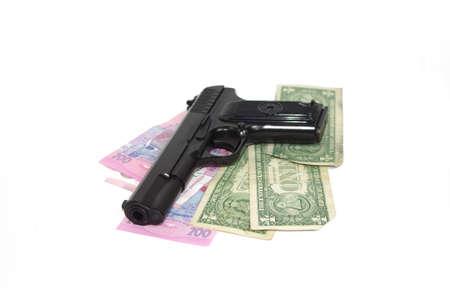 TT 1953 gun and money Stock Photo