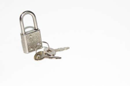 Small silver lock