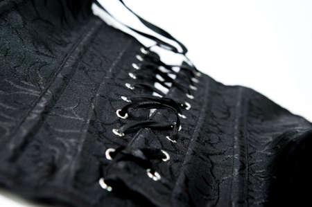 Black corset Stock Photo