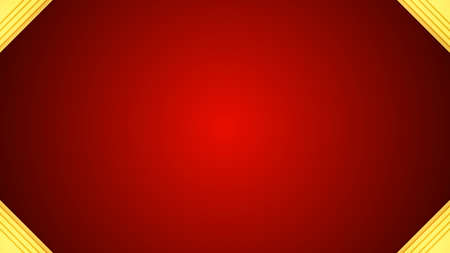 Golden abstract red luxury frame background