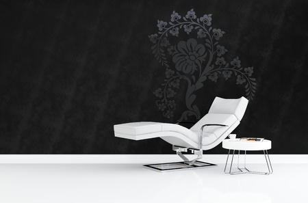 3dmax: Modern armchair 3D rendering Stock Photo