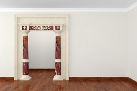 3dmax: Classic portal in interior 3D rendering