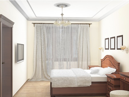 bedchamber: sketch 3D of an interior bedroom