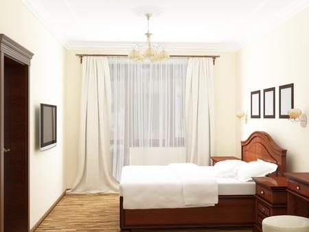 bedchamber: Bedroom, 3D rendering