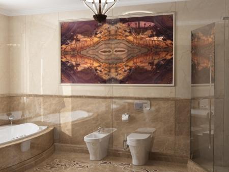 onix: Interior del cuarto de ba�o de estilo cl�sico