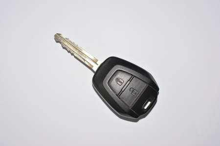 vehicle accessory: a key on white background