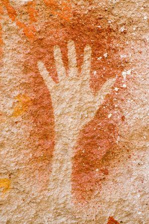 patagonia: Ancient cave paintings in Patagonia, Argentina