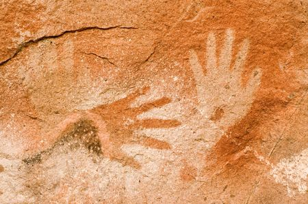 stoneage: Ancient cave paintings in Patagonia, Argentina.