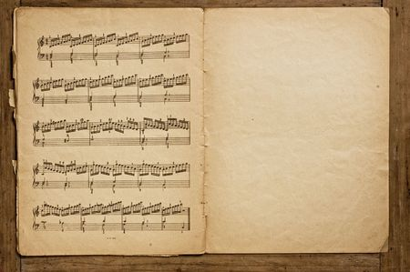 old items: Old music book.
