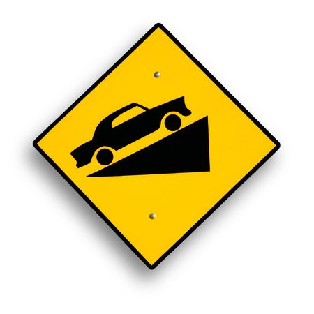 excludes: Traffic sign isolated on white, clipping path excludes shadow.