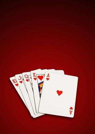poker cards isolated photo