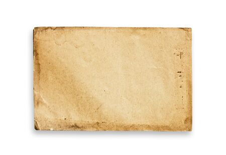 Vintage paper texture, isolated, with clipping path. Stock Photo - 3728826
