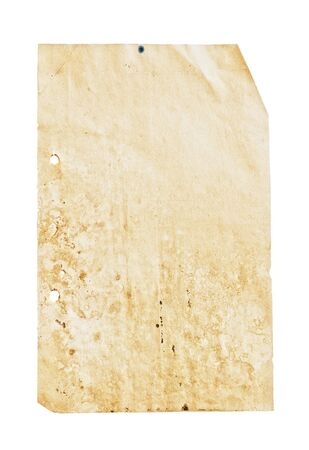 Close up shot of a blank vintage sheet of paper. Stock Photo - 3774631