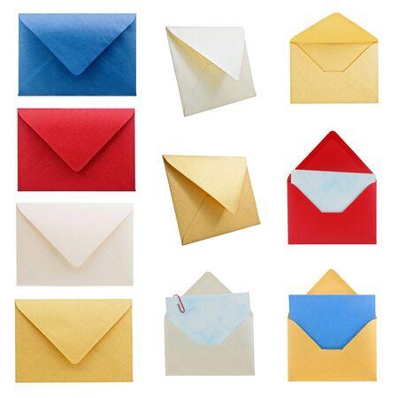 Res de alta colecci�n de diferentes tipos de sobres, con saturaci�n camino. Foto de archivo - 3982581